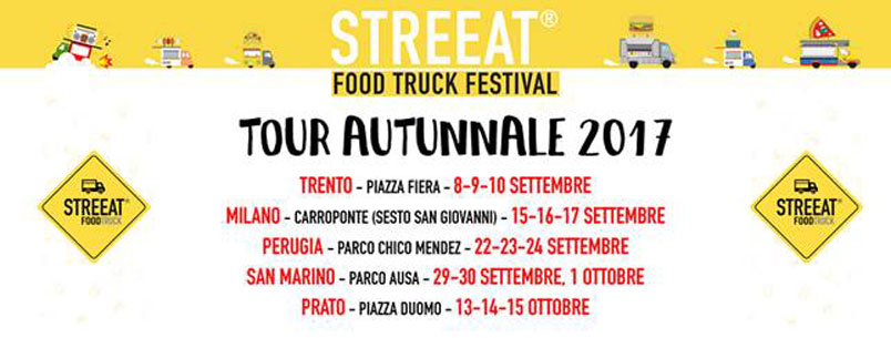 Streeat – Food Truck Festival: riparte in tour per l'Italia con 5 tappe autunnali