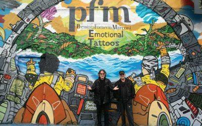"""PFM: rivelata in un murales a Milano la cover dell'album """"Emotional Tattoos"""""""