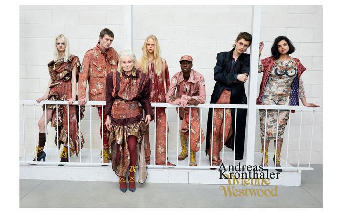 Vivienne Westwood protagonista nuova collezione di Andreas Kronthaler