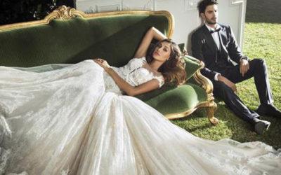 Belen Rodriguez protagonista della collezione di abiti da sposa Angelozzi
