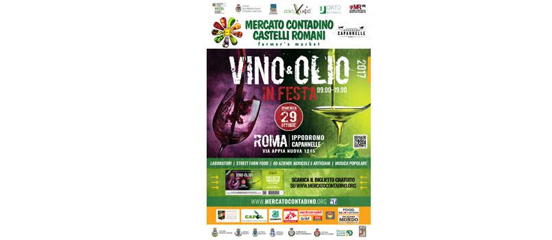 Vino e Olio in Festa 2017 al Mercato Contadino Capannelle di Roma