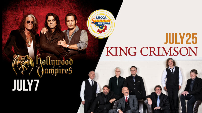 Lucca Summer Festival annuncia Hollywood Vampires e King Crimson