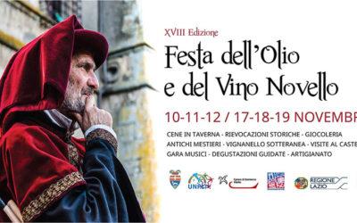 Al via la Festa dell'Olio e del Vino Novello nel cuore della Tuscia viterbese