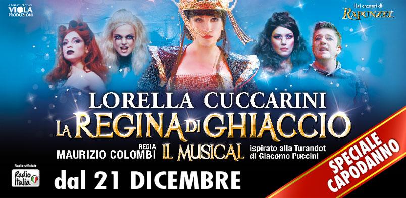 """Torna Lorella Cuccarini al Teatro Brancaccio di Roma con """"La Regina di ghiaccio il Musical"""""""