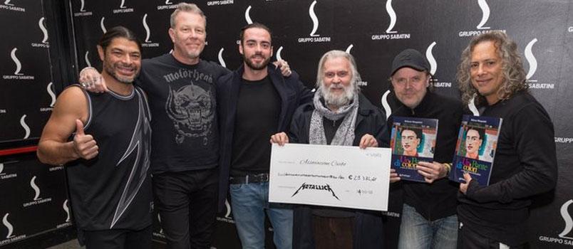 I Metallica donano 30 mila euro a una Onlus bolognese