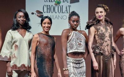 A Milano sfilano vestiti di cioccolato