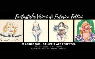 """""""Fantastiche Visioni"""", i disegni di Federico Fellini in mostra a Roma"""