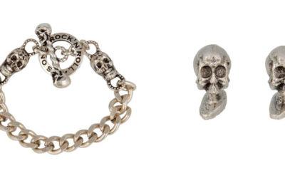 """Preziosi teschi, protagonisti della collezione """"da urlo"""" ideata per Halloween dal jewelry designer Pietro Ferrante"""