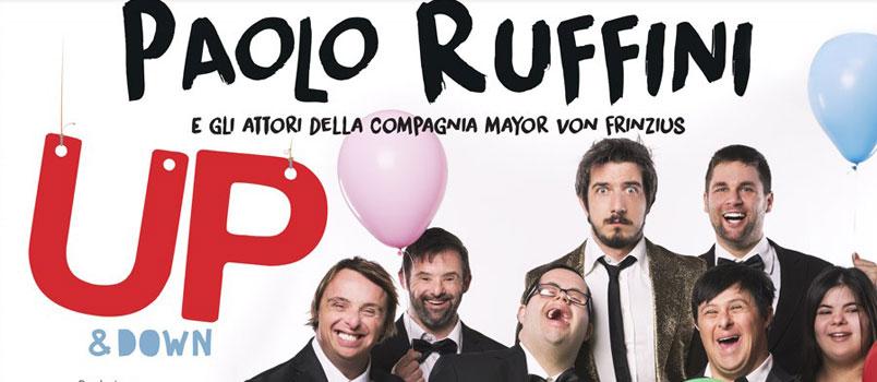 """Paolo Ruffini torna con lo spettacolo """"Up & Down"""": dal 6 al 26 novembre in scena al Teatro Brancaccio di Roma"""