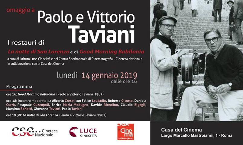Casa del Cinema: omaggio ai Fratelli Taviani