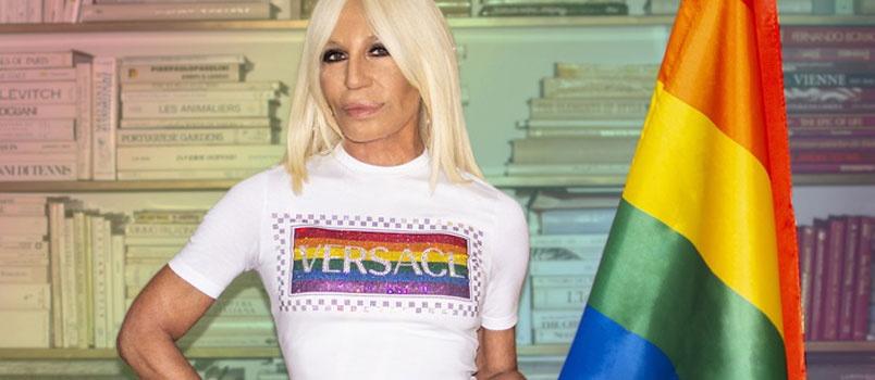 Donatella Versace testimonial di Stonewall