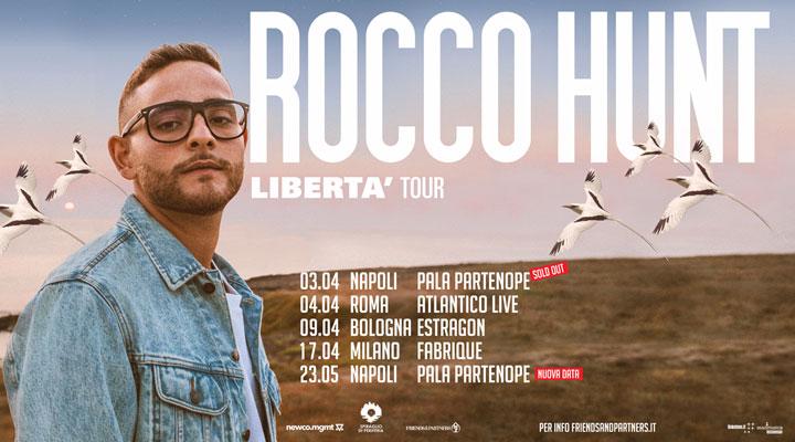 Rocco Hunt: la data del 3 aprile al Palapartenope di Napoli è sold out