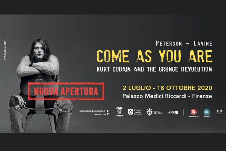 "Riapre a Firenze la mostra fotografica ""Come as you are: Kurt Cobain and the Grunge Revolution"""