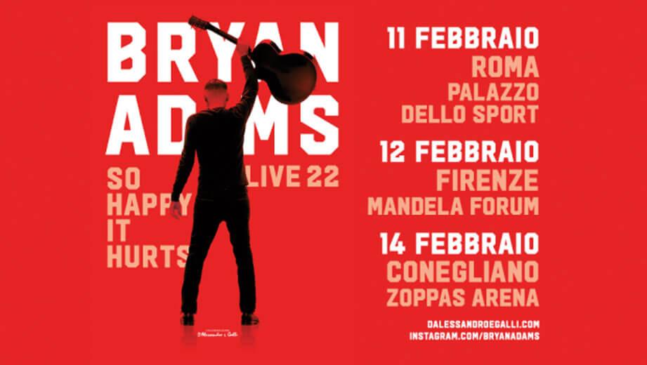 Bryan Adams a febbraio in Italia